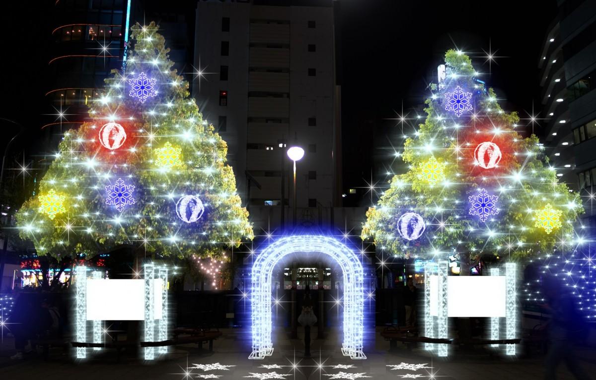高円寺南商店会のイルミネーション点灯式を行います